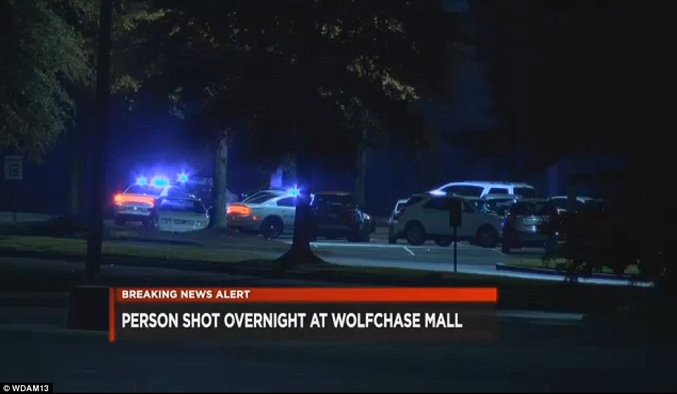 The incident occurred in the parking lot outside the food court area after witnesses said a suspect fired several shots and then fled in a Ford Mustang