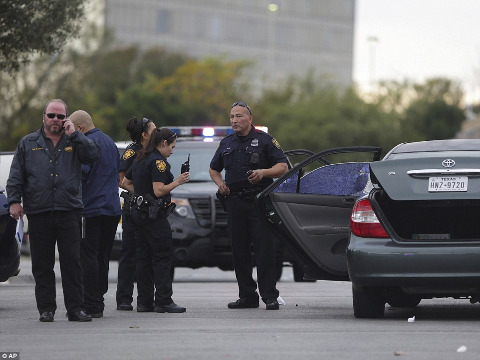 Juarez shot at the car and hit the man allegedly after he had been seen grabbing a woman by the hair and punching her