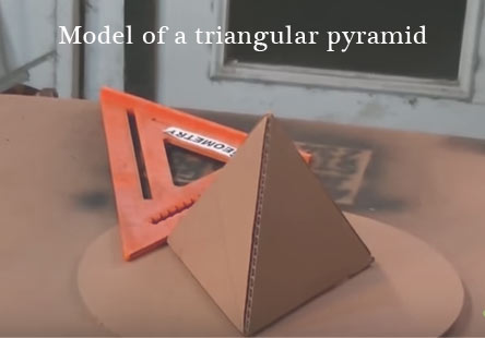 model of a triangular pyramid