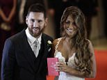 Leo Messi, 30, has married his childhood sweetheart today Antonella Roccuzzo, 29, in a lavish Argentinian ceremony