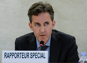 Mr David Kaye has been appointed UN Special Rapporteur on the promotion and protection of the right to freedom of opinion and expression in August 2014