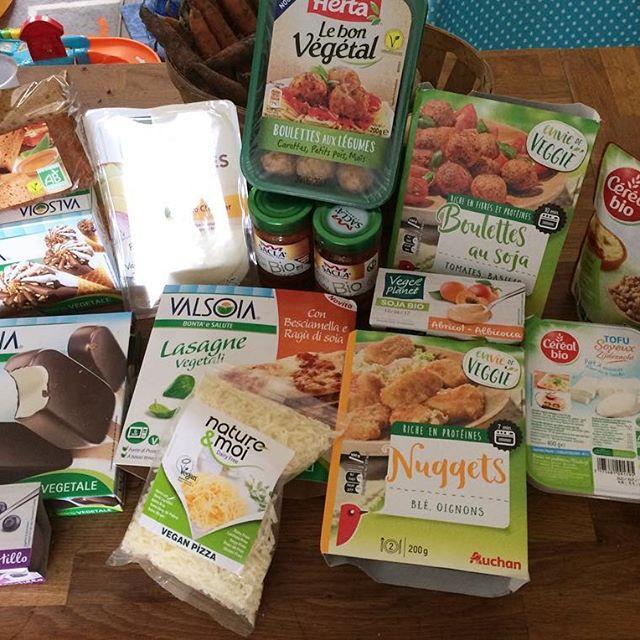 Petits achats Vegan du jour chez auchansaintherblain ! Des glaceshellip