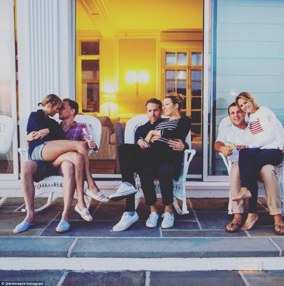 One out of every three relationships in this photo are over: Swift and Hiddleston, Blake Lively and Ryan Reynolds and Britany and Benjamin LaManna during the 2016 festivities in Watch Hill