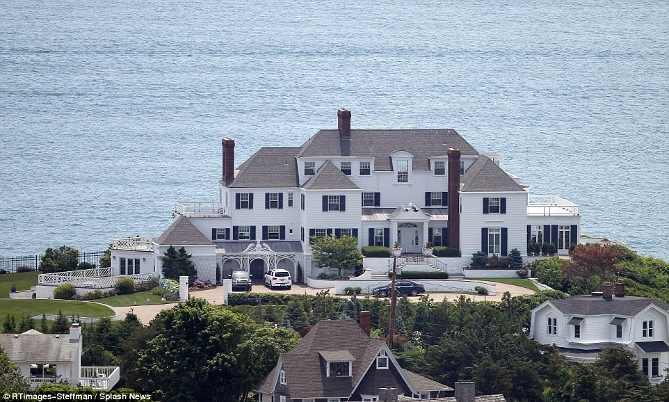 Palatial escape: Swidt purchased the home in Westerly, Rhode Island back in 2013, a year after dating Conor Kennedy