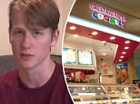 Zachary Randolph, 18, was suspended Tuesday after buying an officer a brownie while he was working at Great American Cookies at Katy Mills Mall in Texas on Sunday