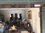 In a post on the Sunshine Coast Snake Catchers 24/7 page, followers have been encouraged to 'Spot the snake!' above a photo of what appears to be a living room (pictured)
