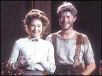 Zoe Wannamaker and David Bowie