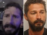 An irate actor Shia LaBeouf is seen in a police body camera video during his arrest in Georgia over the weekend