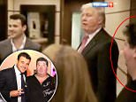Out of the shadows: Rob Goldstone (right) and his client Emin (left), a pop star whose father is a Putin-friendly Russian billionaire, were captured on camera with Trump during the now presidnet's 2013 visit to Moscow