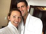 World number two Novak Djokovic posted a selfie wishing his wife a happy anniversary