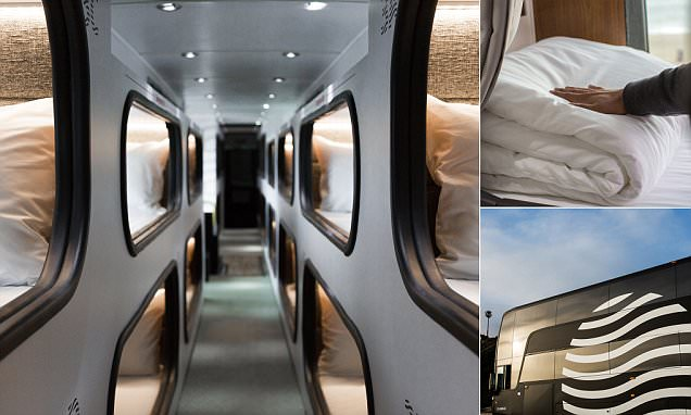 'Moving hotel' bus service Cabin launches in California