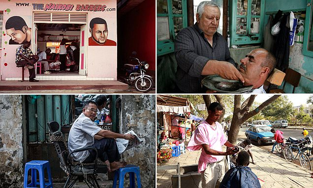 Barber shops around the world presented in photos