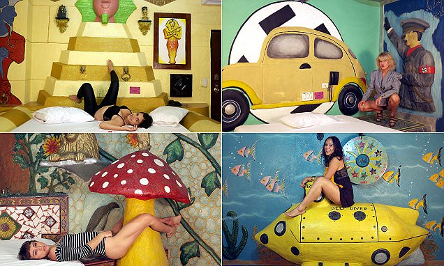 The Kiss Me Motel in Cali, Colombia boasts themed suites