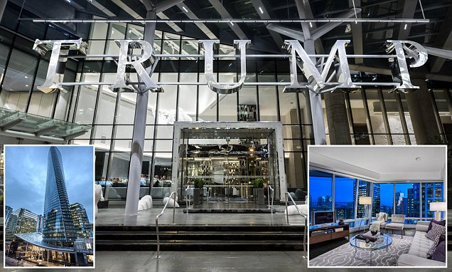 Vancouver Trump Tower two bedroom flat on market for £1.3m