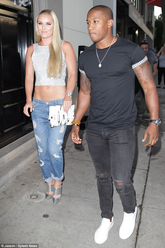 New love: The beautiful blonde is now dating NFL coach Kenan Smith