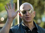 Amazon CEO Jeff Bezos was unperturbed by fears surrounding his growing empire on Thursday as he arrived at the Sun Valley Conference in Idaho