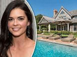 Beachside buy: Katie Lee has listed her 6,325-square-foot Hamptons mansion for $5.5million (front of the home above)