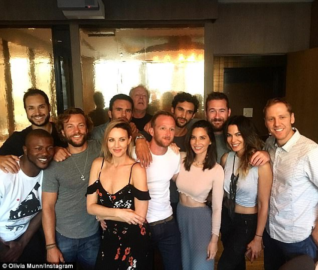 New gig: Olivia left a table read for her new role on the show Six and joined the cast for dinner, where they took a group photo