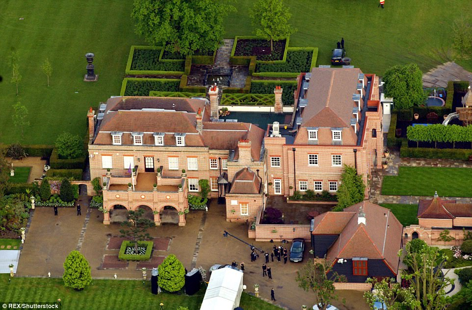 Ode: The famous family also nicknamed their former £10million Hertfordshire residence 'Beckingham palace,' before putting it up for sale in 2013