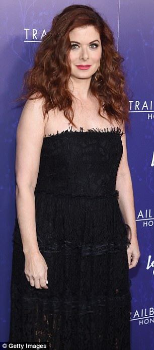 "Debra Messing - pictured in June -  also recalled during an interview earlier this year when a director made  a sexist comment against her.  She said: 'We started filming and the very famous director screamed 'Cut' and said, ""How quickly can we get a plastic surgeon in here? Her nose is ruining my movie"""
