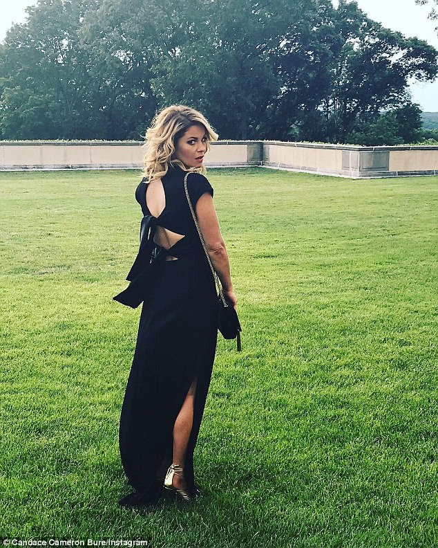Stunner: Candace Cameron Bure, an alum of DWTS, radiated while posing at the event