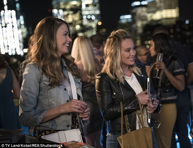 Twists and turns: Hilary Duff (R) promises plenty of unexpected surprises on this season of Younger with her co-starSutton Foster (L)