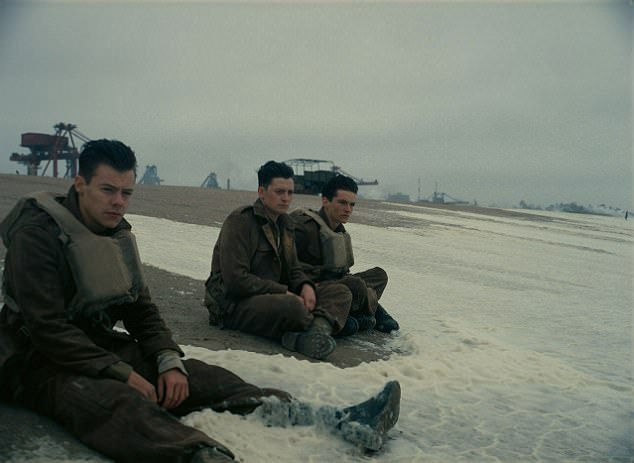 Unaware: Christopher Nolan admitted he didn't realise how famous Harry Styles was before he cast him in Dunkirk (pictured with co-star Fionn Whitehead)