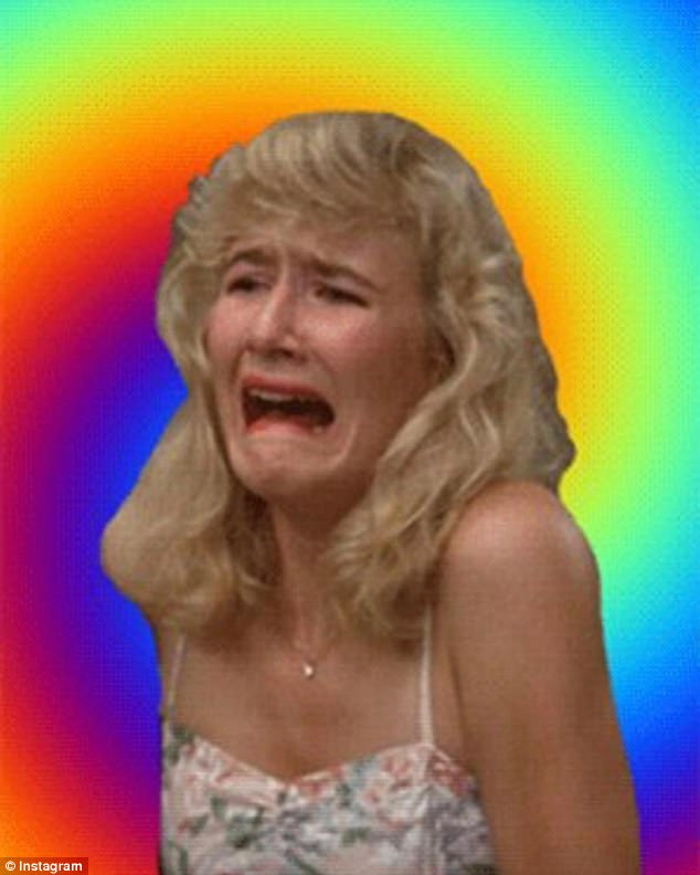 Famous face: Actress Laura Dern recently learned what a meme was after a famous scene from Blue Velvet become one online