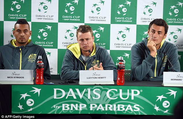 Stress: As Australia's Davis Cup captain and coach, Lleyton has reportedly placed pressure on himself to whip Nick, 22, and Bernard, 24, into shape