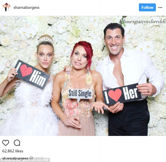 Full of stars: They hosted an intimate ceremony at the Oheka Castle in Long Island, New York, attended by many of their DWTS co-stars and former contestant friends, including Sharna Burgess
