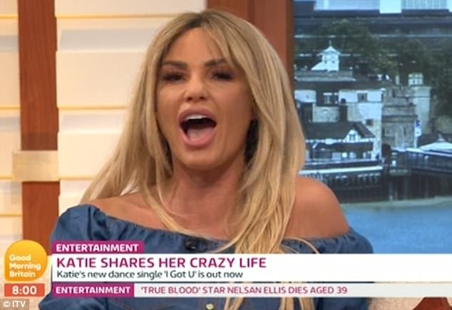 'I got you!': Katie treated viewers to a live rendition of her new dance track's chorus