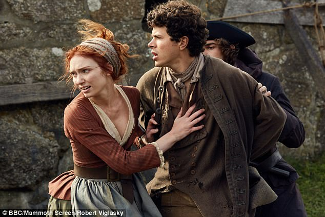 In character: The couple in the third series of Poldark, where they play brother and sister