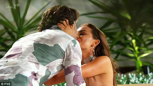 Official: Kem had asked Amber to be his girlfriend just days before on Love Island, as he carried out a sweet gesture that included a series of text messages to cement their romance