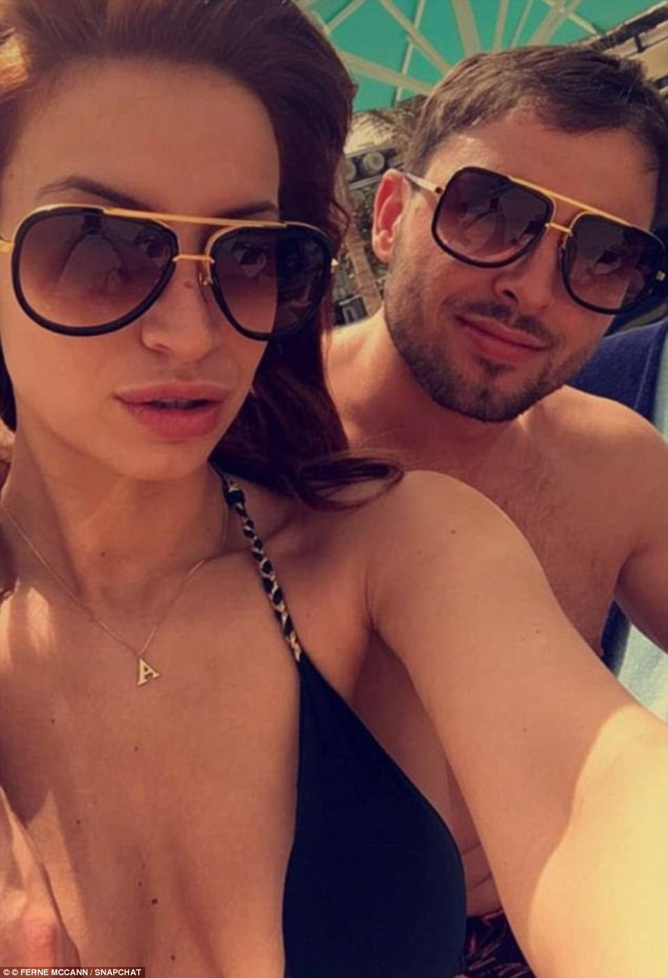 Happier times: Ferne had enjoyed a brief romance in June 2016, before confirming they had rekindled their relationship in March earlier this year - she had spoken of her hopes to move in with her ex-beau and claimed he had been 'The One'