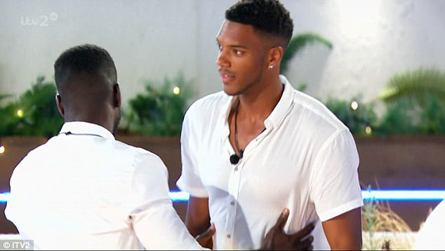 Beef: Continuing her rant at a visibly upset Jonny, she tells him to apologise to Theo before walking away