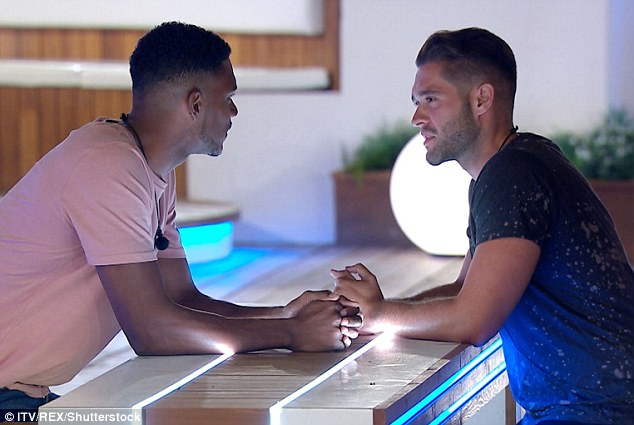 Face off:The Love Islanders turn on each other as new boy Theo squares up to Jonny after saying he'll steal Tyla