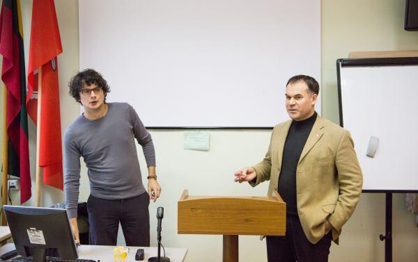 """Apie filmo """"Lošėjas"""" sėkmę ir kūrybinius sunkumus dr. Andriaus Gudausko surengtoje paskaitoje pasakojo filmo scenarijaus bendraautoris filosofas doc. dr. Kristupas Sabolius."""