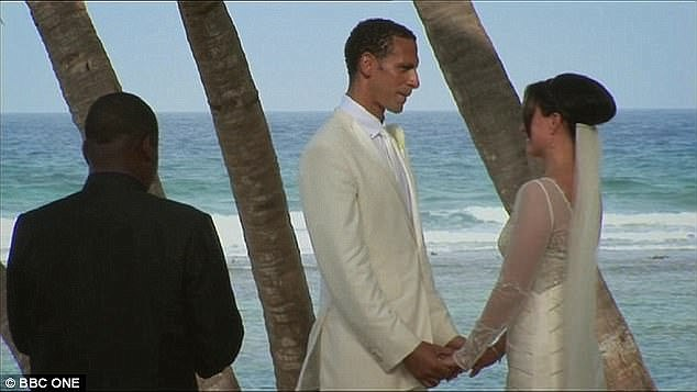 Rio and his wife Rebecca on their wedding day back in 2009 in the Caribbean