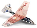 A9JK5T Airplane made of euro notes. Image shot 2007. Exact date unknown.