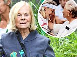 The Duchess of Kent made a rare public appearance at Wimbledon's royal box yesterday