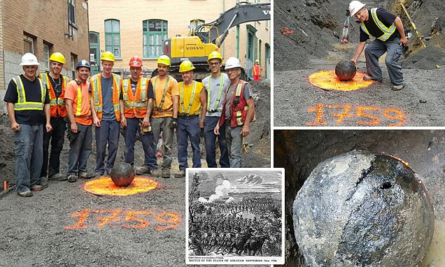Canadian builders discover 200-year-old cannonball