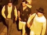 The trio was detained hours after police released CCTV images of three men they wanted to speak to about the alleged assault