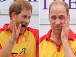 Hard match, Wills? Duke of Cambridge looks shattered after charity match at Britain's most historic polo club... but giggling brother Harry still looks fresh (NEWS, LIVE, UNMOD, BP)
