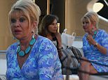 Ivana Trump has been spotted drinking with friends on a yacht in St Tropez in southern France as she  soaked up the sunshine