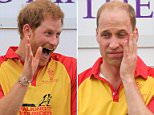Prince Harry looked fresh following the polo match