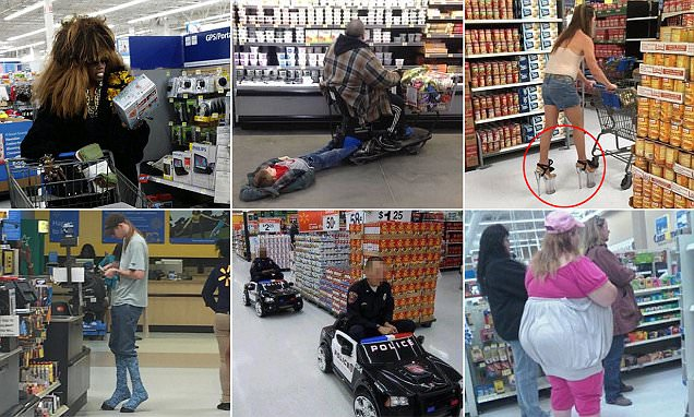 Supermarket shoppers snap eccentric characters
