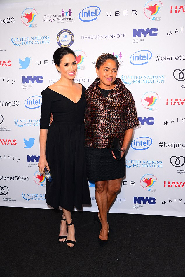 Meghan Markle and her mother Doria Radlan,an African-American yoga teacher and therapist