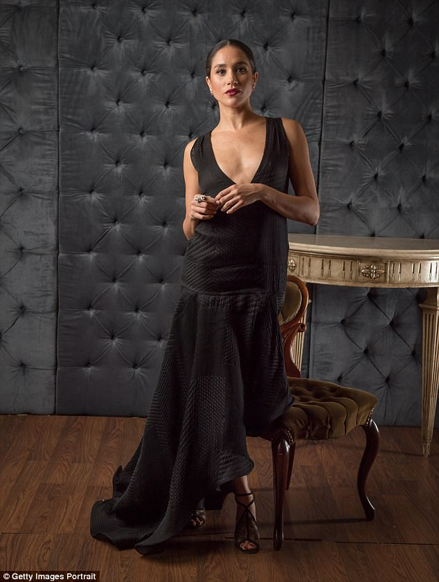 Grown-up glamour: A stunning Meghan Markle is pictured in a portrait taken at the 2016 Canadian Arts and Fashion awards in Toronto