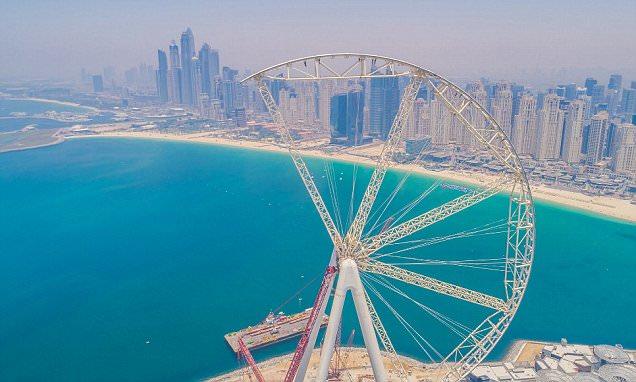 The Ain Dubai ferris wheel inches towards completion