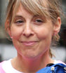 Busy bee: Mel Giedroyc was spotted leaving the BBC Radio 1 studios in London